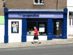 Funeralcare (chrisinplymouth) Tags: door doorway entrance shop shopfront plymouth devon unitedkingdom uk cw69x plymgrp coop cooperative funeraldirectors funeralcare pedestrian scowl pl21aq albert road devonport england chrisinplymouth people
