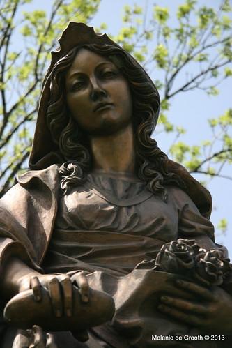 Statue of St. Elisabeth of Thuringia at Bratislava Castle