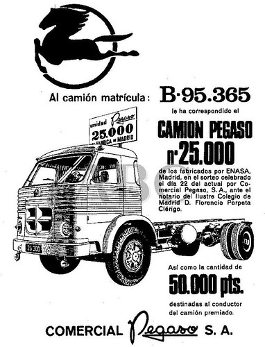"Pegaso Nº25000 (1966) • <a style=""font-size:0.8em;"" href=""http://www.flickr.com/photos/95583826@N05/8747475692/"" target=""_blank"">View on Flickr</a>"