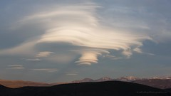 Lenticular Cloud over Three Sisters (Jeffrey Sullivan) Tags: california county copyright cloud storm jeff nature weather clouds canon landscape photography mono photo mark iii nevada may sierra 5d sullivan douglas eastern lenticular 2013 fotostat