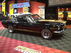 '66 Shelby GT350H, on the Auction Block (artistmac) Tags: auto black ford car gold automobile auction indianapolis performance rental indiana 1966 66 shelby hertz mustang v8 musclecar supercharger paxton fastback in 289 gt350 gt350h mecum