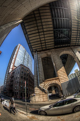 Underneath (Josh Derr) Tags: nyc brooklyn dumbo fisheye manhattanbridge