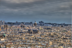 Paris from Sacre Coeur HDR (jbarc in BC) Tags: city paris france view montmartre sacrecoeur