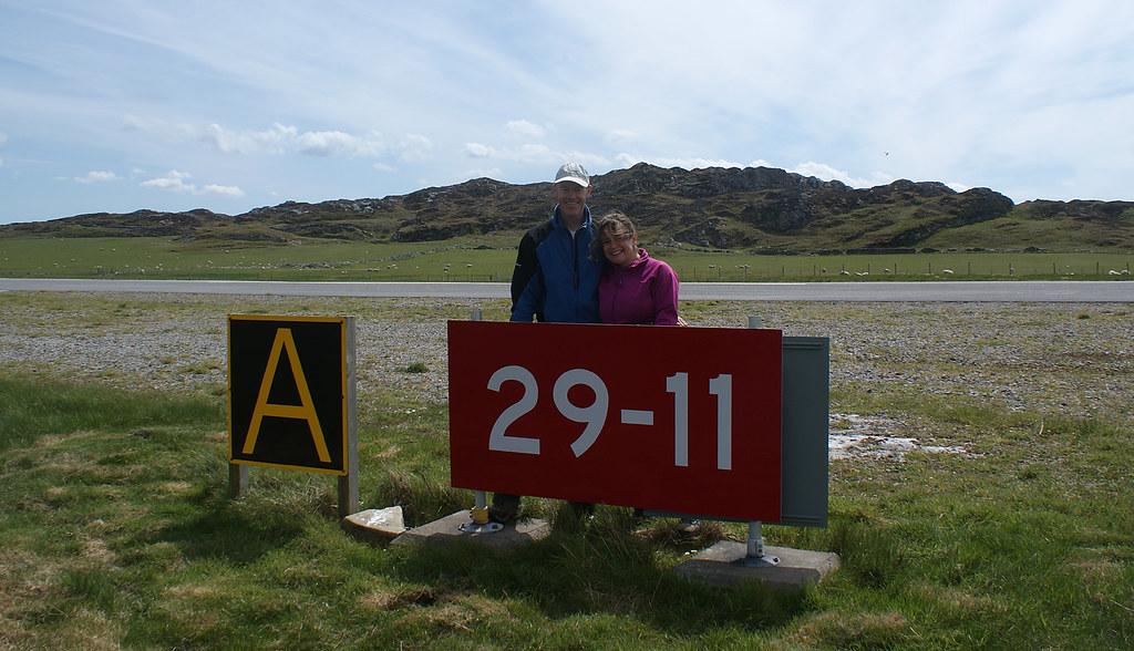 With Kim at Colonsay Airport