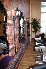 Janelli Salon (Andrew Hocking Photography) Tags: old beauty vintage hair decoration victorian barber hairdresser salon chic decor falmouth shabbt