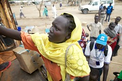 Thousands of Refugees Moved Before the Rains Hit South Sudan (UNHCR) Tags: women southsudan relocation sudaneserefugees