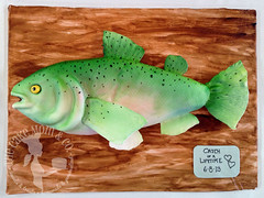 """Catch of a Lifetime"" Trout Groom's Cake (The Cake Mom & Co.) Tags: cake emily fishing weddingcake fishcake rainbowtrout groomscake 3dcake troutcake thecakemom 3dfishcake cakesincapegirardeau cakesinsoutheastmissouri"