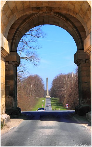 THE GREAT OBELISK CASTLE HOWARD  FROM THE GATEHOUSE