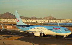 G-FDZF Boeing 737 Thomson Airways (GSairpics) Tags: gfdzf boeing boeing737 b738 b738ng ng thomson thomsonairways gcrr ace arrecifeairport lanzarote canaryislands aircraft aeroplane airplane aviation travel transport flight flying jet jetliner airline airliner