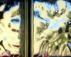 split personality (Hilarywho) Tags: splitpersonality face fracturedface glass glassblock glassblockwindow light distorted abstract