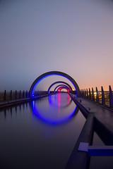 Illuminated Wheel (reiver iron - RMDPhotos.co.uk) Tags: falkirk wheel caledonian canal central scotland night illuminated long exposure