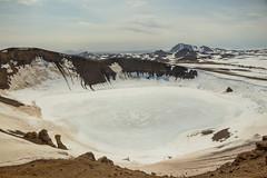 Krafla Viti Crater 10 (sarahmonious) Tags: kraflaviticrater kraftla viti myvatn kraftlavolcano volcanocrater crater hverir snow route1iceland route1 ringroad iceland iceland2016 icelanding2016 traveling