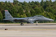 91-0331 F-15E Strike Eagle - LN / 494thFS/48thFW - RAF Lakenheath, UK (David Skeggs) Tags: aircraft aeroplane airplane military usaf usairforce usafe lakenheath davidskeggs f15 eagle strikeeagle fighterjet ln