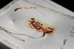 August 13 2016, Saturday (interchangeableparts) Tags: project365 needlepoint glitteryandshiny likeallchristmasthings shouldbe