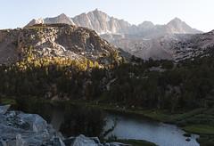 Mount Goode (zh3nya) Tags: sierranevada highsierra haze hiking sunset goldenhour granite california cliffs contrast d750 sigma35mmf14 rugged rocks ridge lake alpine mountains steep trail ca