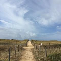 La croise des chemins (Reb et Ka) Tags: bretagne breizh bzh morbihan erdeven ocean lande sky ciel clouds