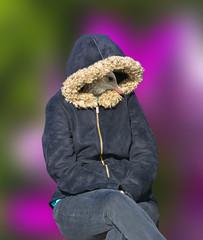 Bird In A Coat (swong95765) Tags: coat woman jacket bokeh seated gull beak head