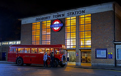 'Last Bus' (andrew_@oxford) Tags: sudbury town london underground station vintage buses timeline events nighttime