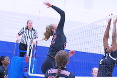 IMG_9830 (SJH Foto) Tags: girls volleyball high school stroudsburg pa pennsylvania team tween teen teenager varsity net battle spike block action shot jump midair