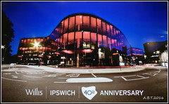 """Picture of a Picture"" Showing How The Willis  Building Looked On It's 40th Anniversary (Alan B Thompson) Tags: 2016 ipswich suffolk eastanglia lumix fz72 picassa"