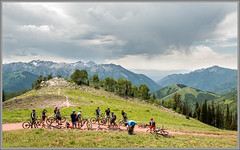 Watching the Storm Roll  In (Photo-John) Tags: mtb bike utah cycling outdoor adventure mountains mountainbike mountainbiking velo bici bicci wasatch parkcity slc saltlakecity sports actionsports storm wasatchcrest clouds canon eos 7dmarkii 7dmkii stockphoto stockphotography editorial editorialphotography