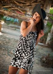 Ashley Pt.24 (tmors) Tags: portrait woman lifestyle editorial desert fashion dress grafiti bridge lines beauty beautiful urban sexy