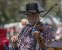 Violinist at HB Civil War Days (Jose Matutina) Tags: california civilwar huntingtonbeach huntingtonbeachcentralpark musician orangecounty performer reenactment reenactor sel85f14gm sonya7ii strings violin