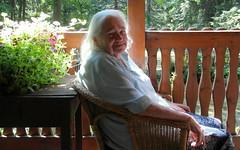 mama in wicker chair (kexi) Tags: old woman portrait mama mother light white gniazdowo polska poland samsung wb690 july 2015 eyes instantfave