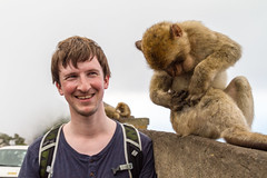 Me and a Barbary macaque (TimOve) Tags: vacation ferie trip summer sommer barbarymacaque rockape gibraltar therock monkey