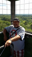 Made it to the tower top! (Mike WMB) Tags: bear goatee smile lakeitasca mississippiorgin