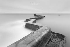 All at sea (fyule903) Tags: scotland fife coastal sea seascape pier longexposure blackandwhite blackwhite moody structure uk tranquil outdoors zigzag water cloud sky overcast