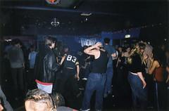 Moshing (Gary Kinsman) Tags: london 2001 film kingscollegelondon kcl students university fun youth young candid dance rock metal club metros metroclub tuesday rockclub metalclub moshing flash