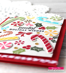 Stamp of Approval Candy Cane Lane Collection (RejoicingCrafts) Tags: stampofapproval christmas christmascard papercrafts cardmaking stamping handmade cards candycane joyful watercolor holiday
