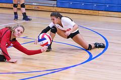 IMG_2950 (SJH Foto) Tags: girls volleyball high school mount olive mt team tween teen teenager varsity libero dig bump dive action shot