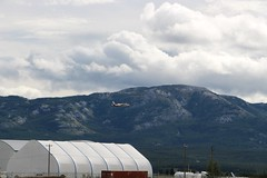 Take Off from Erik Nielsen Whitehorse International Airport (demeeschter) Tags: canada yukon territory river city town street road business shop building capital