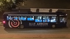 Go North East Blue Arrow 5203 at Wallsend (zipdiskdude) Tags: bus gonortheast bluearrow 5203 wallsend night nebuses scania wright l94 nk54nuw