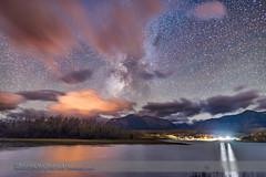 Milky Way over Maskinonge (Amazing Sky Photography) Tags: led maskinongepondreflection milkyway nationalpark summer watertonlakes clouds darksky lightpollution sodiumvapour