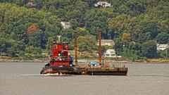 Tugboat Cornell (thetrick113) Tags: cornell tugboatcornell lehighvalleyrailroadtugboat railroadtugboat barge verplancknewyork westchestercountynewyork hudsonriver vintagetugboat tugboat hudsonrivertugboat hudsonvalley hudsonrivervalley sonyslta65v red lehighvalleyrailroad deckbarge workingvessel vessel steel iron