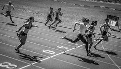 100m Dash To The Line (vandalenmike) Tags: trackandfield athletes athletics femaleathletes running sprinting