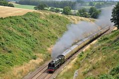 20100725    71000 Duke of Gloucester (paulbrankin775) Tags: br 8p pacific 71000 duke gloucester torbay express wellington bank whiteball tunnel steam train 462 smoke