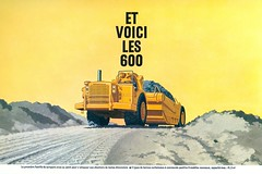 Caterpillar 600 Series Scraper Advert (dated 1963) (Bournemouth 71B / 70F) Tags: plant building yellow moving digging paving grading making rolling carrying loading loaded lifting construct earthmoving trenching shifting excavating constructing costruction leveling