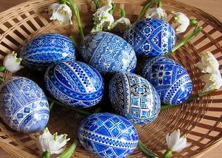 hímes tojások / ornate eggs