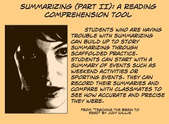 "Educational Resource:  ""Summarizing (part II)"" (Ken Whytock) Tags: students writing reading classmates scaffold practice teachers summary"