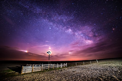 Just Epic (Bryce Bradford) Tags: sky windmill night stars landscape nikon colorado galaxy astrophotography parhelion prairie plains lunar f28 moondog d800 milkyway 14mm rokinon