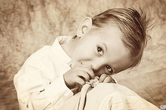 (MissSmile) Tags: boy portrait bw cute studio kid toddler child tritone memories adorable shy blanket misssmile