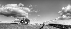 Mouswald Church (Mike Docherty) Tags: church clouds rural photoshop landscape mono hdr dumfries galloway photomatix cs5 mouswald