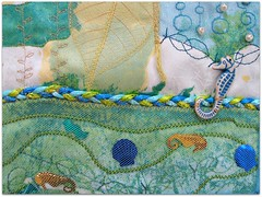 island treasures from needles and threads (colorfulexpressions) Tags: thread islands 6ws sixwordstory fabric embellishments seacreatures dreamers quotations lrp colorfulexpressions annemorrowlindberg arelative georgewilliamcurtis