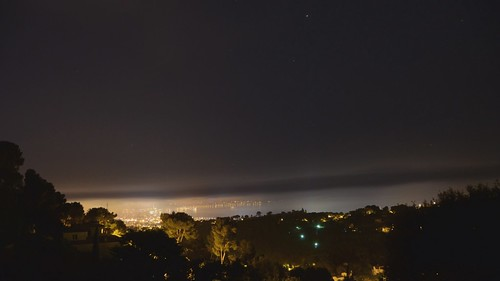 The French Riviera at night (time lapse)