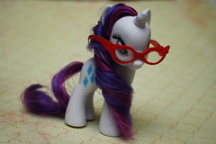 Art of the dress ~ 110/365 (Hamsteh) Tags: glasses g4 pony fim unicorn mlp mylittlepony rarity friendshipismagic