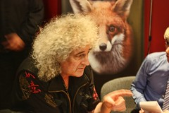 Dr Brian May (Rosemarie.s.w) Tags: somerset taunton rspca teambadger westhatch drbrianmay mygearandme stopthebadgercull